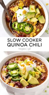Slow Cooker Vegetarian Chili with Quinoa