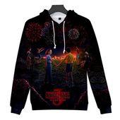 Unisex 3D Stranger Things 3 Print Pullover Hoodie Sweatshirt