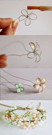 "Blumenring ""Glasmalerei""   – Basteln"