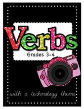VERBS Unit Games, Task Cards, Worksheets, and MORE
