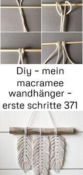 Diy – mein macramee wandhänger – erste schritte 371