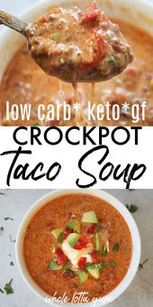 Easy Low Carb Taco Soup (Slow Cooker + Stovetop Recipes)