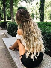 15. Half Updo Twists | LONG WAVY HAIRSTYLES YOU WILL LOVE; #LongHair #Hairstyle #WavyHair #blondecurlyhair