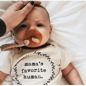 Tenth and Pine – Mama's Favorite Human – Organic Bodysuit