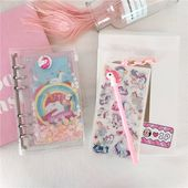 Kawaii Unicorn Notebook Diary with Stickers and Accessories – KawaiiTherapy