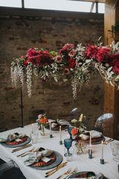Wedding dinner setting organic floral table clip fall autumn colors – bruiloft h…
