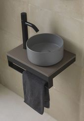 Countertop washbasin without overflow on all sides