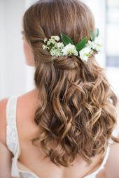 25 +> Natural Bridal Hair and Makeup Inspiration for The Curation Of Ligh ...
