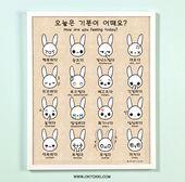 Remark te sens-tu aujourd'hui coréen/anglais bilingue émotion 11 x 14 affiche impression d'Artwork, la Tradition coréen Hangul, apprendre coréen, étudiant cadeau pour elle