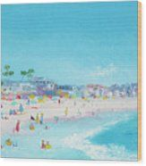 Pacific Beach In San Diego Wood Print by Jan Matson