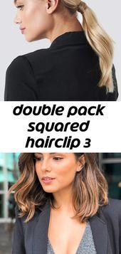 Doppelpackung eckige Haarspange 3