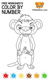 Free Color By Number Printable Coloring Pages For Kids