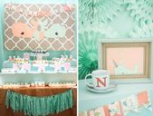 Peach and Mint Baby Shower For Twins