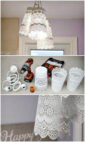 Lámpara colgante DIY – Ikea Hack – 60 ideas simples de lámpara DIY que …
