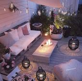 Low cost solution with pallets and shadow accounting. Although beams with wicker …   – Garten/ Balkon