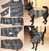Kreative Ideen – DIY Hundepullover von Old Sweater Sleeve