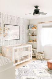 Boho Baby Boy Kindergarten – Neutral Nurseries #babyzimmer #baby boy #baby gir …