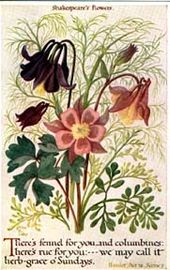 Shakespeare S Flowers Flowers Vintage Botanical Prints Language Of Flowers