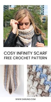 Easy and Free Crochet Infinity Scarf Pattern