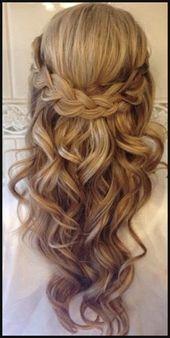 Frisurentrends 20 Amazing Half to Half Below | Einfache Frisuren #Einfache #Einfallsreiche #Kleider #Halbzeit #Trends