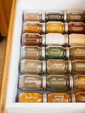 Einfache Spice Drawer-Organisation