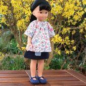 jupe, tunique et chaussures pour poupée type Cheries of Corolla ……   – Jupes