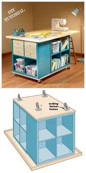 Ikea Kallax Cube Basteltisch DIY Tutorial