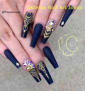 30 große Stiletto Nail Art Design-Ideen 1 #stilettonail Stiletto Nail Art #nail …   – Online Shopping