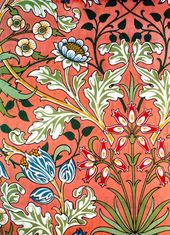 Simply STUNNING Flowers! Vintage Art Nouveau Morris Flower Illustration! Vintage Digital Flower Garden Illustration Download   – antonya mural ideas
