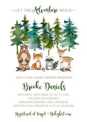 Adventure Baby Shower Invitation, Gender Neutral, Mountain invite, Woodland Forest, Instant download, Winter, Boy Girl, Templett