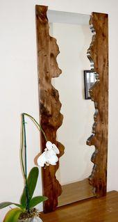 Holzspiegel Holzspiegelrahmen Rustikaler Spiegel von JuniperWoodshop #WoodWorking, #Holzspie…