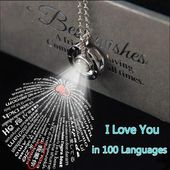 Ich liebe dich 100 Sprachen Halskette   – Present