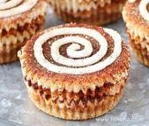 Mini-Zimtbrötchen-Käsekuchen Mit Zimtzucker-Aggregat gemischt mit einem milden …   – Baking