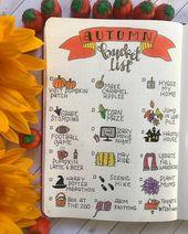 30+ Beautiful Autumn Inspired Bullet Journal Spread Ideas