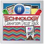 Editable Technology Classroom Decor Bundle