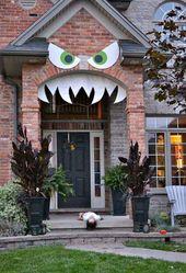 42 Super Smart Last Minute DIY Halloween Decorations Realize #decor #hale …