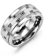 Men's Scattered Black Diamond Wedding Ring – Jewelry