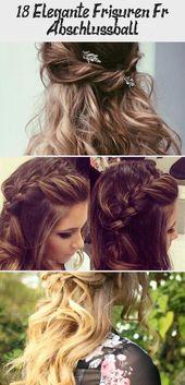 18 elegant hairstyles for prom # prom # elegant # hairstyles #CuteHairstylesForTeens