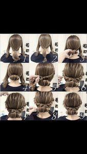 2 min daily EASY hairstyles for school, college, work #College #easy #everyd… #FrisurenfrdieSchule #Work