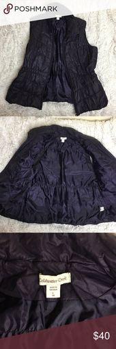Dark Purple Puffy Vest Eine Handvoll Male getragen, in erstaunlichem Zustand! Weste Perfe … – Boho Fashion Winter