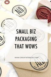Ideas simples + impresionantes para la marca y el embalaje de pequeñas empresas que su cliente …   – Stamping