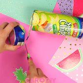Süßes DIY Dose aus Verpackungen