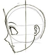 How To Draw Anime Manga Faces Heads In Profile Side View How To Draw Step By Step Drawing Tutorials Anime Drawings Manga Drawing Tutorials Manga Drawing