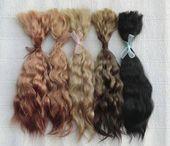 "extra long hair 25-27 cm dark brown - Mohair doll hair 11/"" Mohair weft"