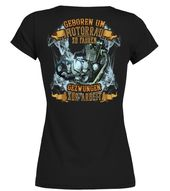 Motorrad Geboren Um Motorrad Zu Fahren  –  Rundhals T-Shirt Frauen  #Shirts #TSh…
