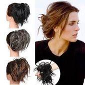 Zerzaustes elastisches unordentliches Haar-Pferdeschwanz-Brötchen
