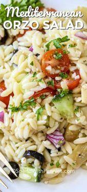 Cette salade méditerranéenne à l'orzo fait sensation à chaque fois que je la prépare! Avec orzo, tomates …   – salads