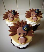 Wie man süße Truthahn Cupcake Toppers macht