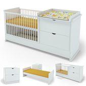 Serina Babybett Wickelkommode Jugendbett Kinderbett Ab 319 90 Eur Baby Cot Bedding Baby Room Design Nursery Baby Room