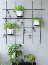 DIY – Plant lattice for garden & balcony made of round rods themselves